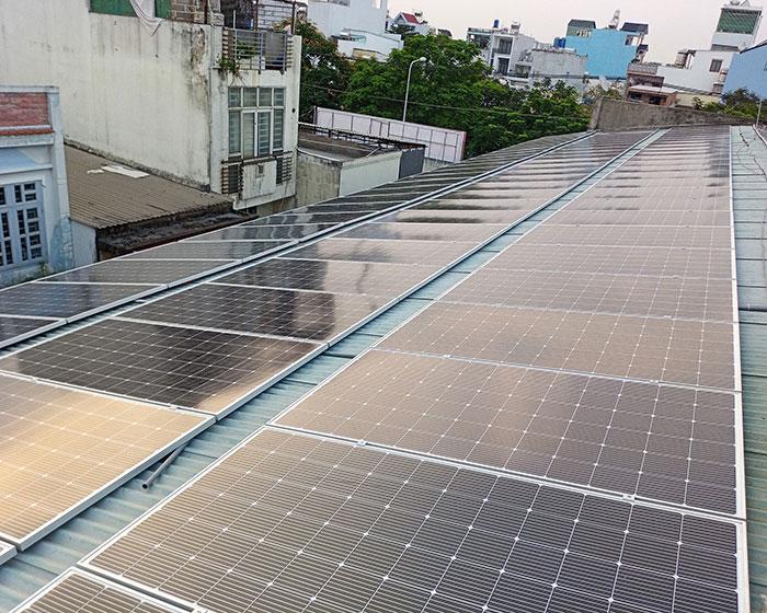 Dự án điện mặt trời áp mái nhà trọ tổng công suất 57 kWp tại Tân Phú HCM 2