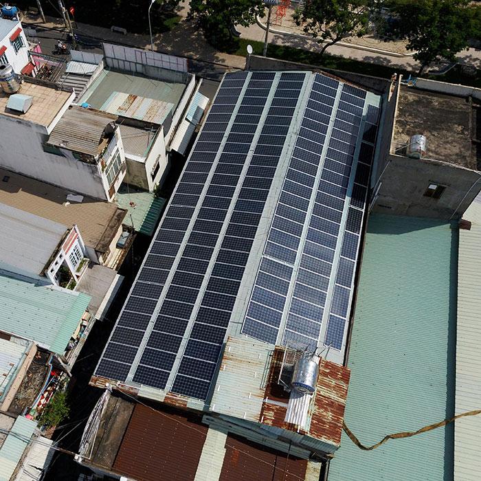 Dự án điện mặt trời áp mái nhà trọ tổng công suất 57 kWp tại Tân Phú HCM 5