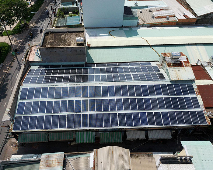 Dự án điện mặt trời áp mái nhà trọ tổng công suất 57 kWp tại Tân Phú HCM 7