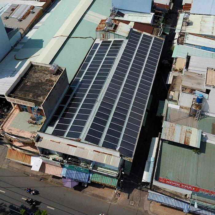Dự án điện mặt trời áp mái nhà trọ tổng công suất 57 kWp tại Tân Phú HCM 8