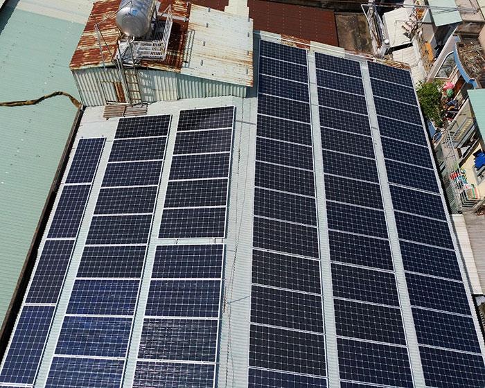 Dự án điện mặt trời áp mái nhà trọ tổng công suất 57 kWp tại Tân Phú HCM 9