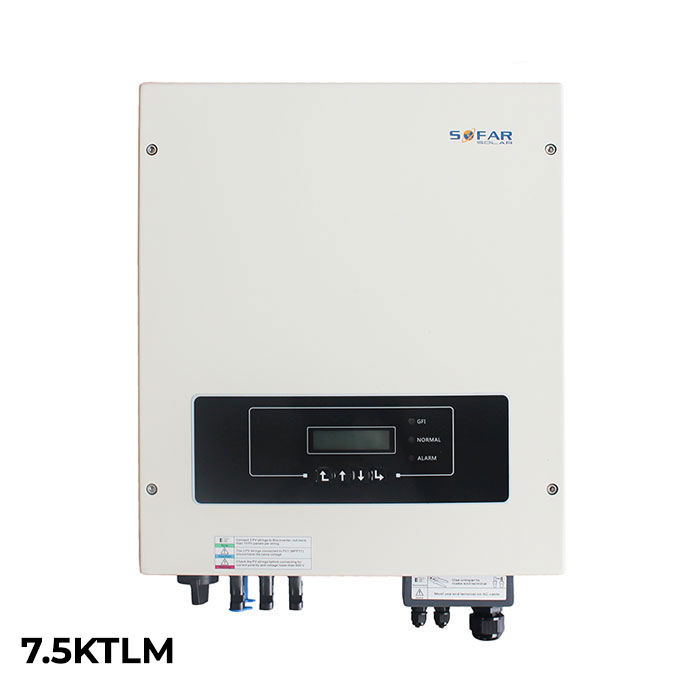 Inverter cho hệ thống điện năng lượng mặt trời hòa lưới Sofar 7.5KTLM