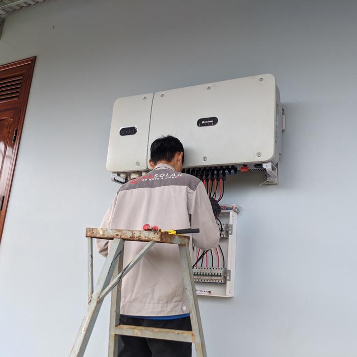 Hoàn thành lắp đặt hệ thống điện mặt trời áp mái quy mô lớn 45kWp tại Đắk Nông 11