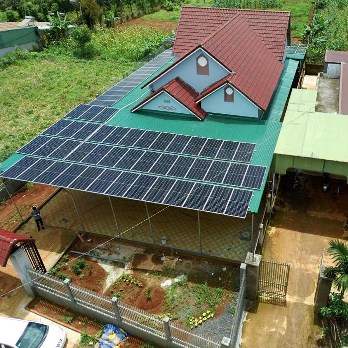 Hoàn thành lắp đặt hệ thống điện mặt trời áp mái quy mô lớn 45kWp tại Đắk Nông 19