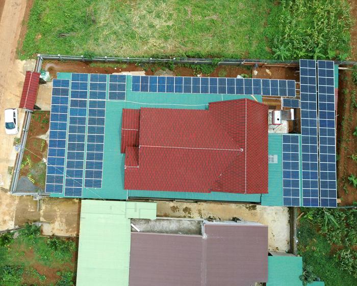 Hoàn thành lắp đặt hệ thống điện mặt trời áp mái quy mô lớn 45kWp tại Đắk Nông 21