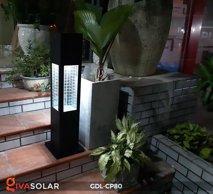 Đèn trụ sân vườn kết hợp pin mặt trời GDL-CP80