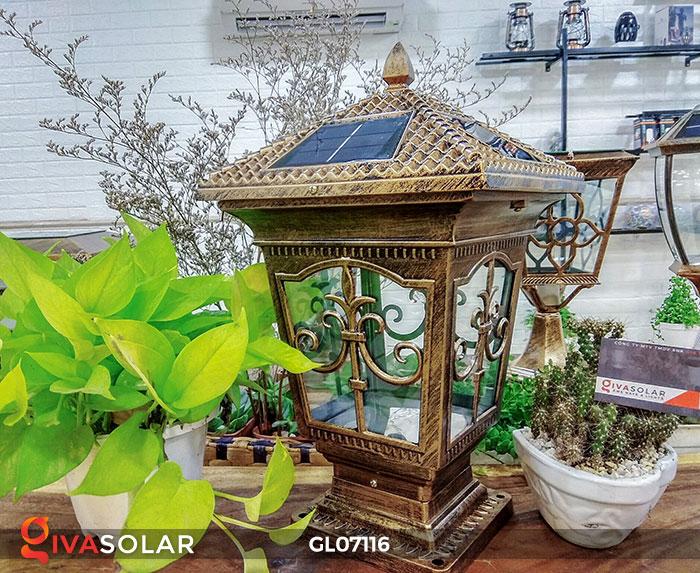 Đèn trụ cổng sử dụng điện mặt trời GL07116