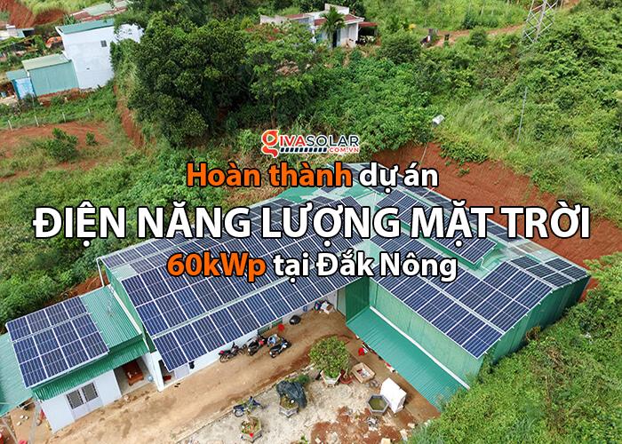 Hoàn thành lắp đặt điện năng lượng mặt trời 60kWp tại Đắk Nông