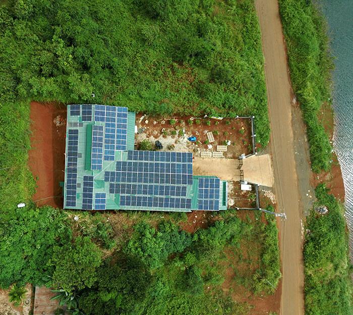 Hoàn thành lắp đặt điện năng lượng mặt trời 60kWp tại Đắk Nông 1