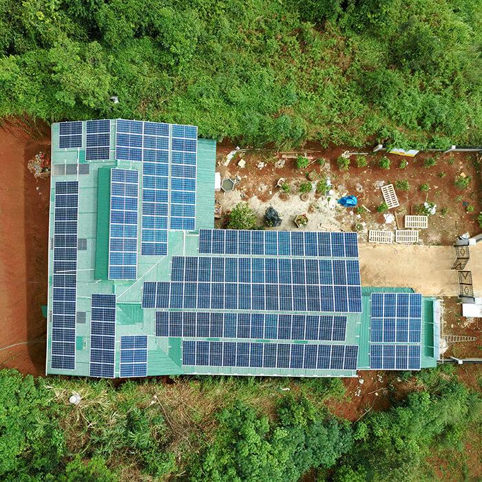 Hoàn thành lắp đặt điện năng lượng mặt trời 60kWp tại Đắk Nông 2