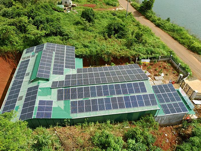 Hoàn thành lắp đặt điện năng lượng mặt trời 60kWp tại Đắk Nông 3