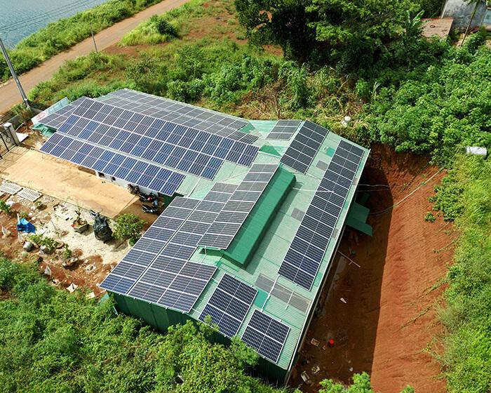Hoàn thành lắp đặt điện năng lượng mặt trời 60kWp tại Đắk Nông 5