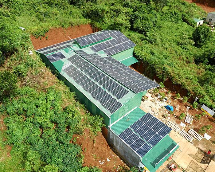 Hoàn thành lắp đặt điện năng lượng mặt trời 60kWp tại Đắk Nông 8