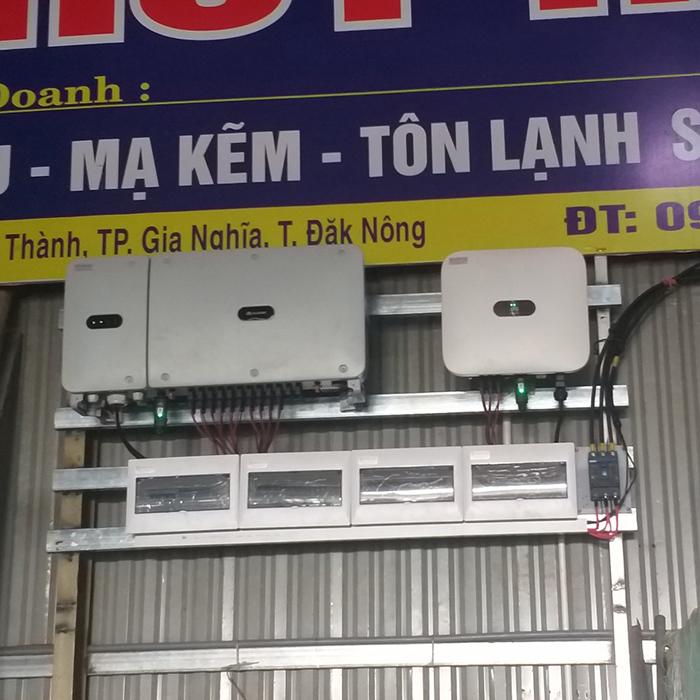 Hoàn thành hệ thống năng lượng mặt trời hòa lưới áp mái 90kWp tại Đắk Nông 10