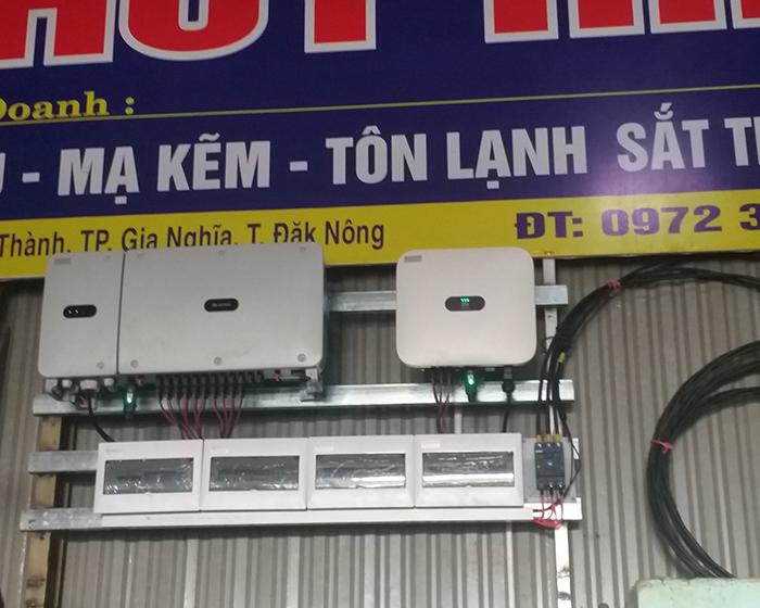 Hoàn thành hệ thống năng lượng mặt trời hòa lưới áp mái 90kWp tại Đắk Nông 8