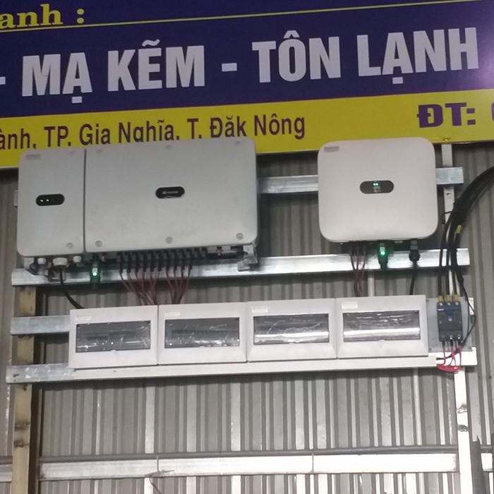 Hoàn thành hệ thống năng lượng mặt trời hòa lưới áp mái 90kWp tại Đắk Nông 9
