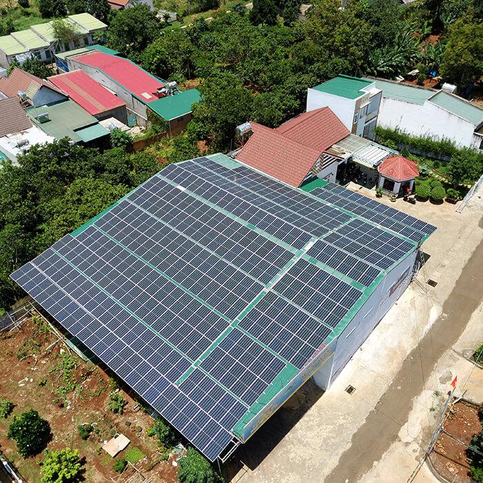 Điện mặt trời Givasolar.com.vn: Hoàn thành hệ thống áp mái 130kWp Đắk Nông 12