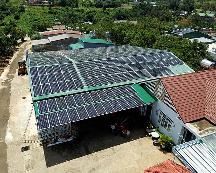 Điện mặt trời Givasolar.com.vn: Hoàn thành hệ thống áp mái 130kWp Đắk Nông 6