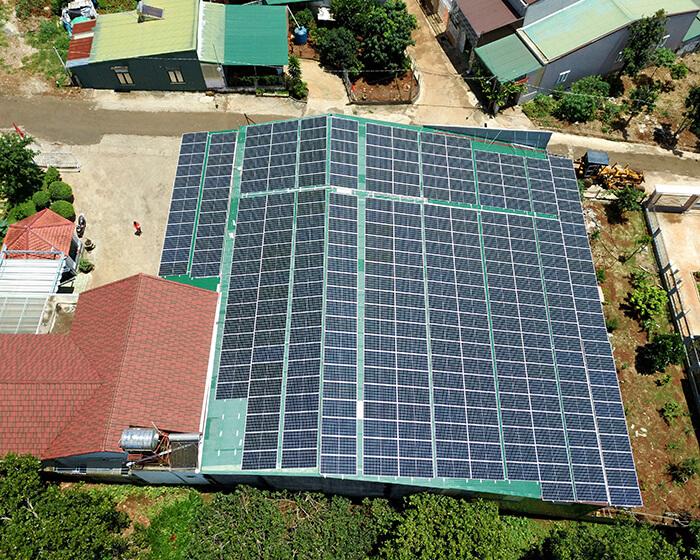 Điện mặt trời Givasolar.com.vn: Hoàn thành hệ thống áp mái 130kWp Đắk Nông 8