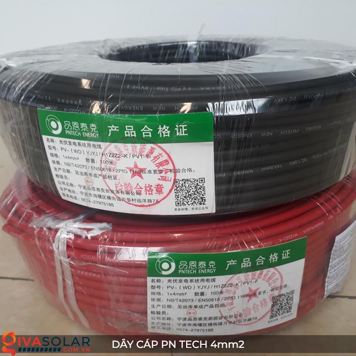 Phụ kiện lắp đặt pin mặt trời: Dây cáp điện DC PN Tech 4 mm2 15
