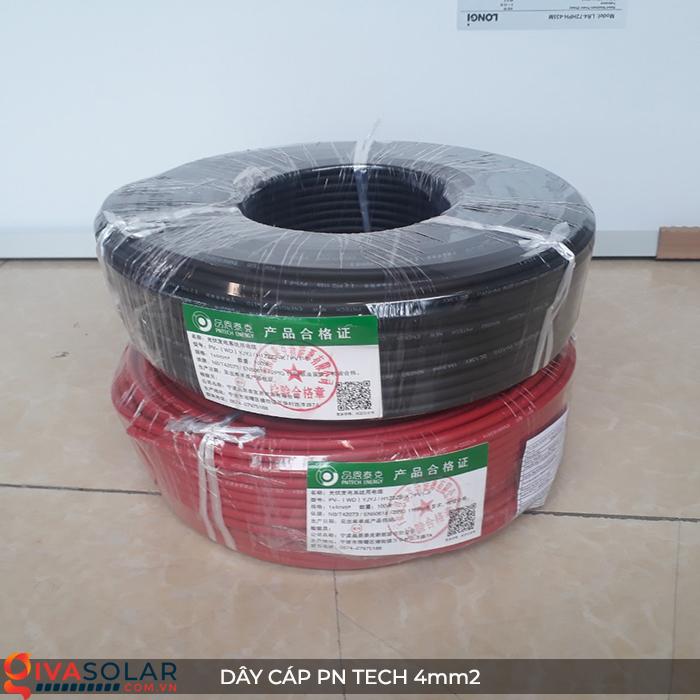 Phụ kiện lắp đặt pin mặt trời: Dây cáp điện DC PN Tech 4 mm2 16