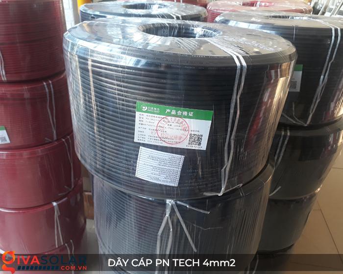 Phụ kiện lắp đặt pin mặt trời: Dây cáp điện DC PN Tech 4 mm2 3