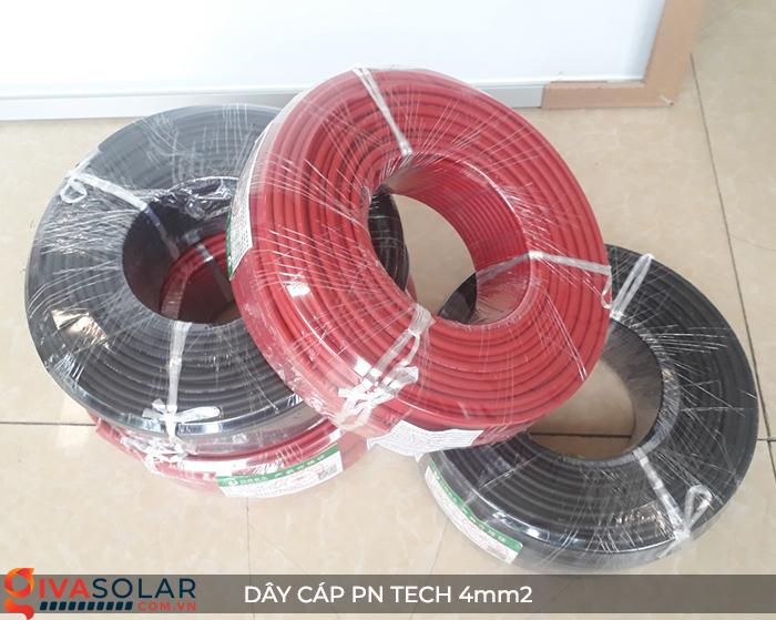 Phụ kiện lắp đặt pin mặt trời: Dây cáp điện DC PN Tech 4 mm2 8