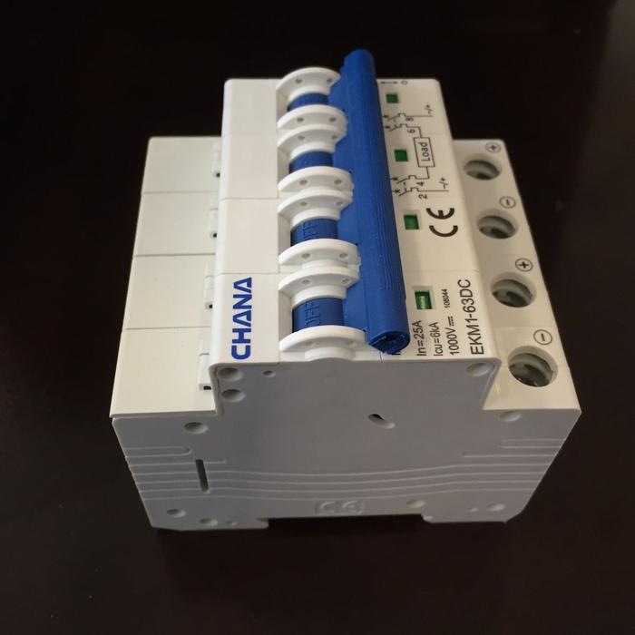 Aptomat DC cho hệ thống điện mặt trời CHANA 6KA-4P-25A-1000VDC 2