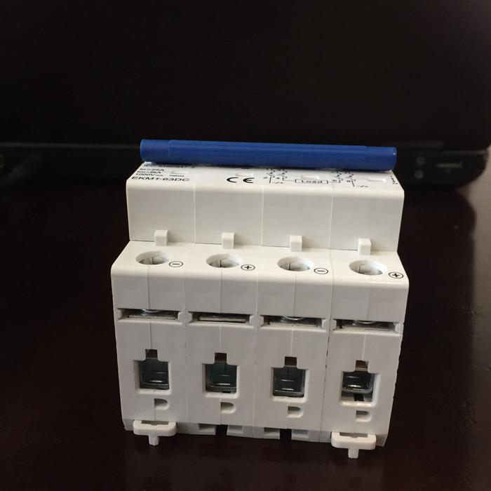 Aptomat DC cho hệ thống điện mặt trời CHANA 6KA-4P-25A-1000VDC 4