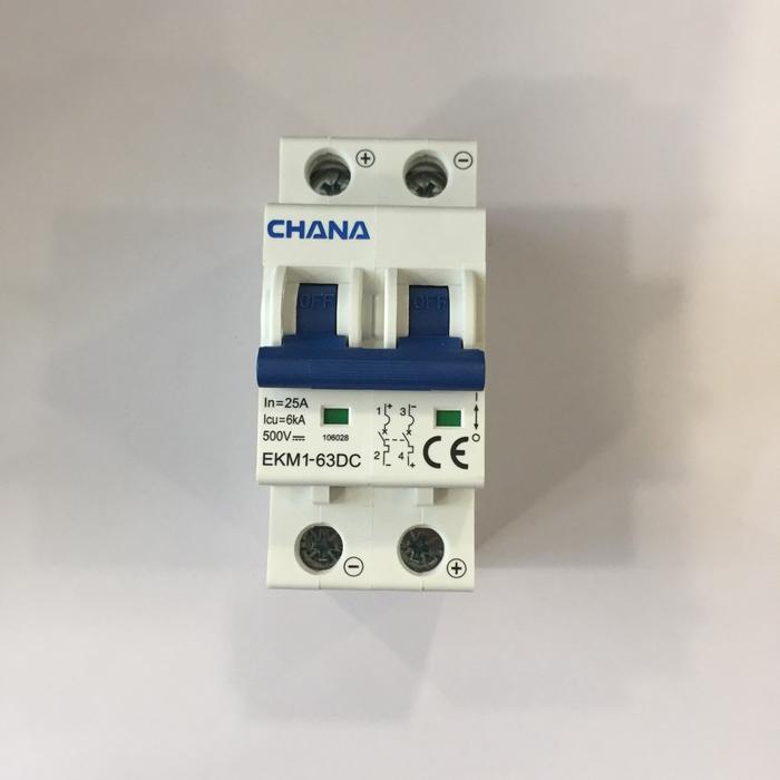 Aptomat DC năng lượng mặt trời CHANA 6KA-2P-25A-500VDC