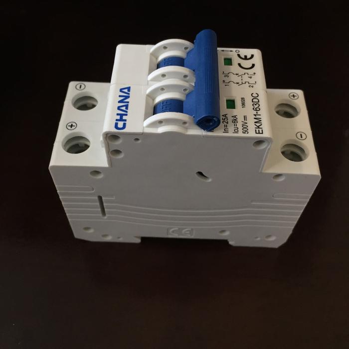 Aptomat DC năng lượng mặt trời CHANA 6KA-2P-25A-500VDC 2