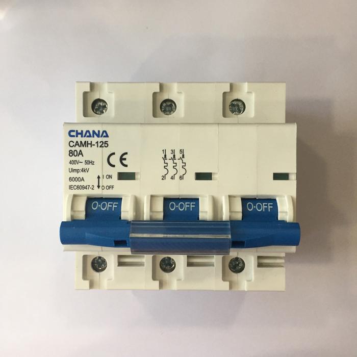 Cầu dao AC cho hệ thống điện mặt trời CHANA 6KS-3P-80A