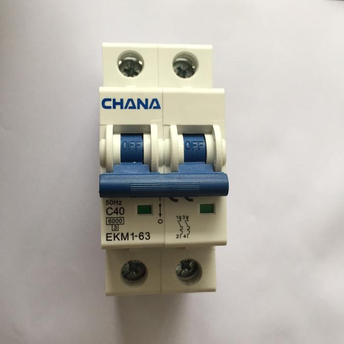 CB AC dùng cho hệ thống năng lượng mặt trời CHANA 6KS-2P-40A