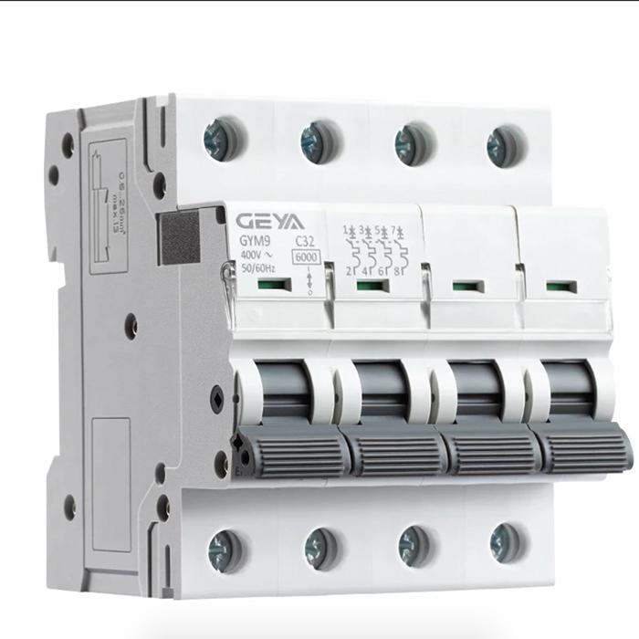 CB AC GYM9-6KA-4P GEYA 20/25/32/63/80A cho hệ thống điện mặt trời
