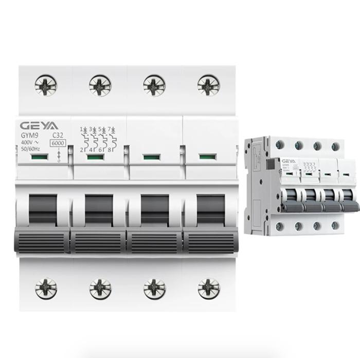 CB AC GYM9-6KA-4P GEYA 20/25/32/63/80A cho hệ thống điện mặt trời 1