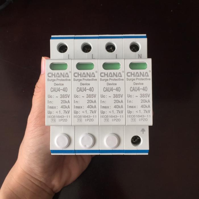 CB chống sét AC 40KA-4P-385V CHANA sử dụng trong điện mặt trời 2