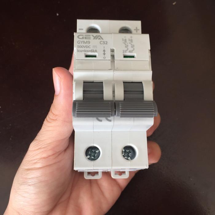 CB DC GYM9-2P GEYA 20/25/32A cho hệ thống năng lượng mặt trời 4