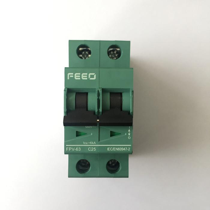 CB DC năng lượng mặt trời FEEO 20A/25A/32A 2P 550V