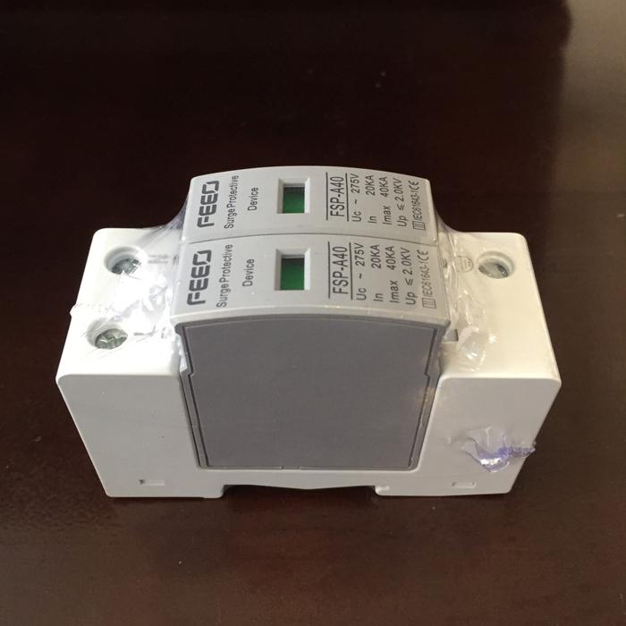 Chống sét AC 2P 20-40KA 275VAC SPD FEEO dùng cho hệ thống điện mặt trời 2