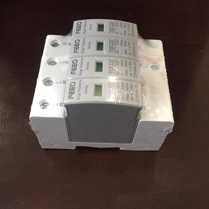 Chống sét AC cho hệ thống điện mặt trời 4P 20-40KA 420VAC SPD FEEO 2