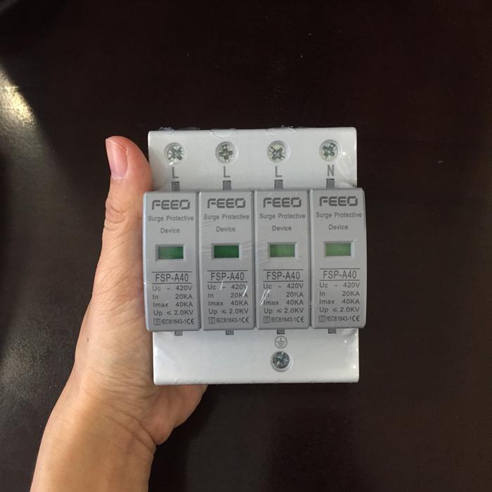 Chống sét AC cho hệ thống điện mặt trời 4P 20-40KA 420VAC SPD FEEO 6