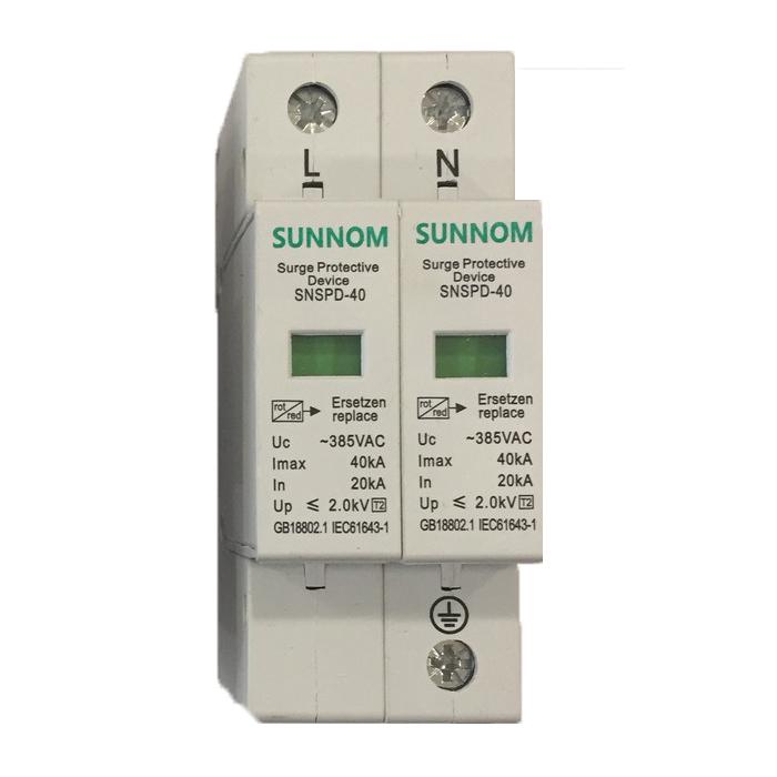 Chống sét AC lắp điện mặt trời SNSPD 2P 20-40KA 385VAC