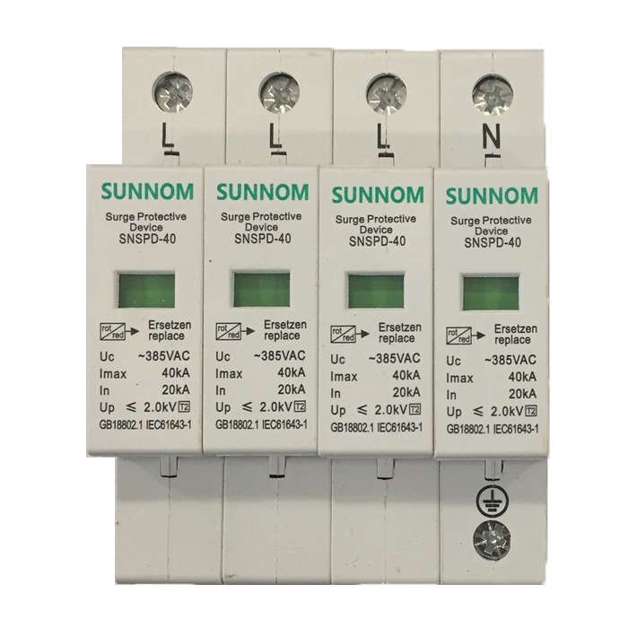 Chống sét AC lắp điện mặt trời SNSPD 4P 20-40KA 385VAC