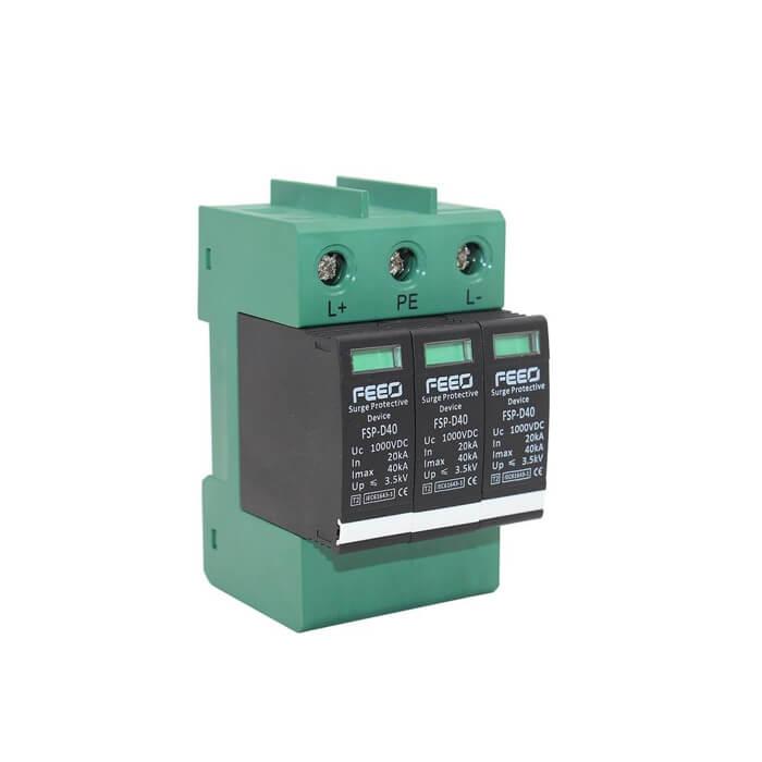 Chống sét DC 3P 20-40KA 1000VDC SPD FEEO dùng cho điện mặt trời
