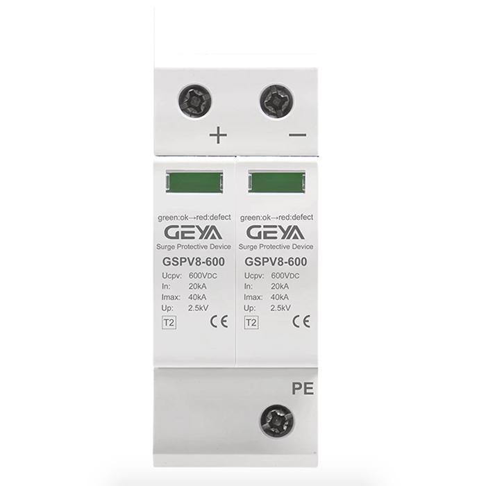 Chống sét DC 600V-2P-40KA- GEYA dùng cho hệ thống điện mặt trời