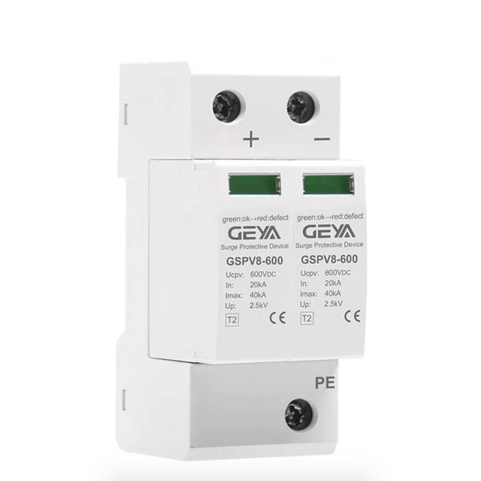 Chống sét DC 600V-2P-40KA- GEYA dùng cho hệ thống điện mặt trời 1