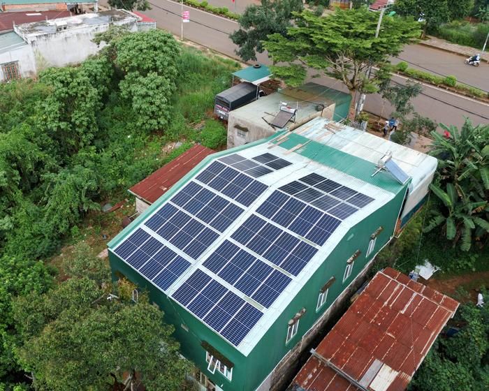 Hoàn thành lắp điện mặt trời áp mái 20 kWp cho anh Lĩnh tại tỉnh Đắk Nông 1