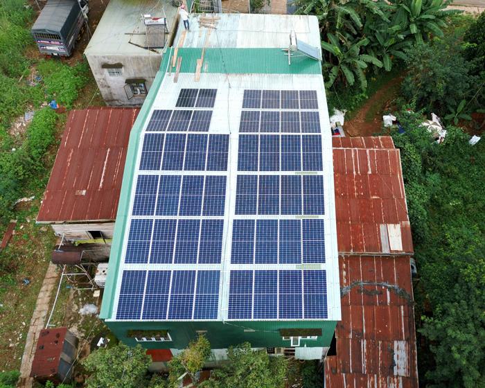 Hoàn thành lắp điện mặt trời áp mái 20 kWp cho anh Lĩnh tại tỉnh Đắk Nông 4
