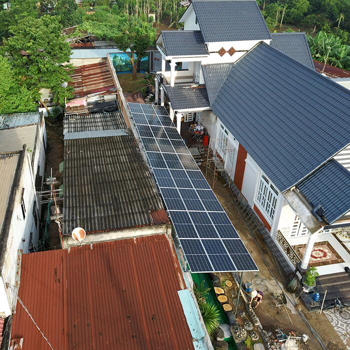Lắp đặt hoàn tất hệ thống năng lượng mặt trời hòa lưới 11kWp tại BR-VT 10