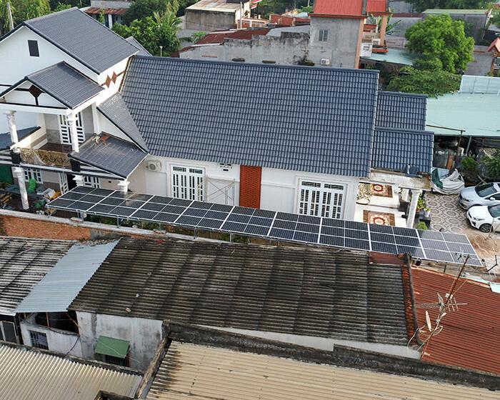 Lắp đặt hoàn tất hệ thống năng lượng mặt trời hòa lưới 11kWp tại BR-VT 12